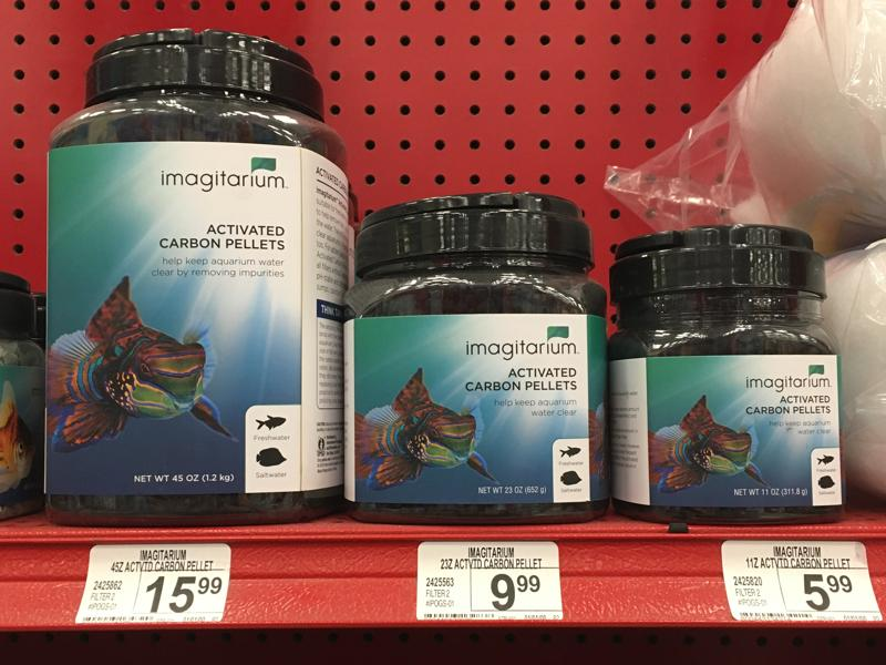 Activate Carbon Pellet for sale at the aquarium store