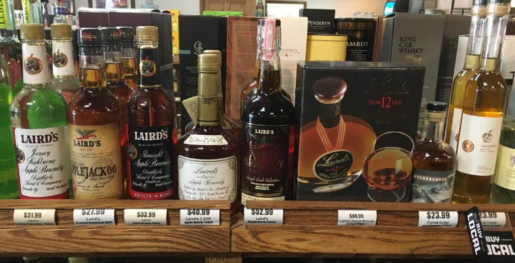 Laird's various apple brandies