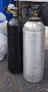 nitrogen and carbon dioxide tanks